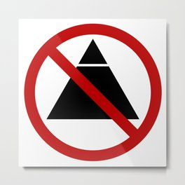 No Illuminati-ing Metal Print