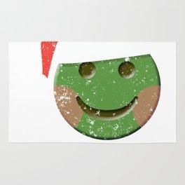 Happy Face Santa Claus Emoticon Shirt Rug