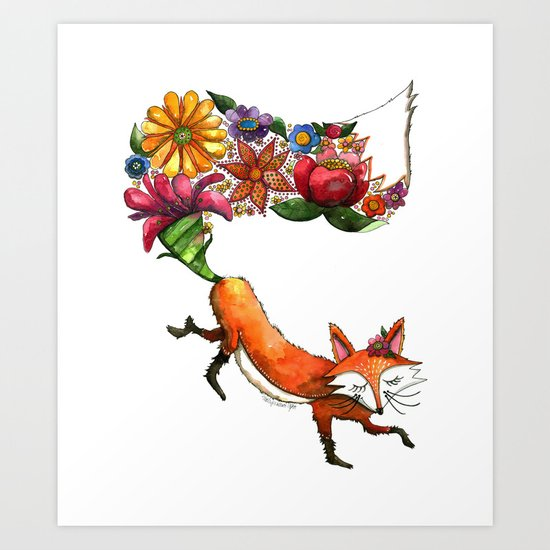 Hunt Flowers Not Foxes One Art Print