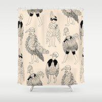 boys Shower Curtains featuring Bird Boys by Ellie Whittaker
