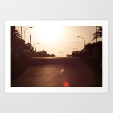 Alicante Sunset Art Print