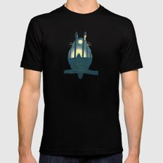Totoro ' s Dream  Mens Fitted Tee Black SMALL