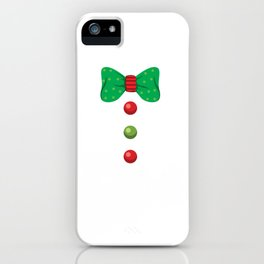 Gingerbread Man Christmas Holiday Costume  print iPhone Case
