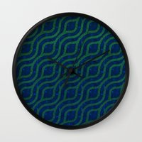 river Wall Clocks featuring River by Lyle Hatch