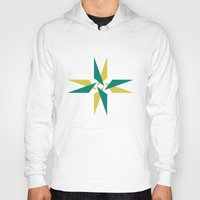 compass Hoodies featuring Compass by Tyler Warnes