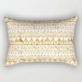 Aztec Inspired Gold Pattern Rectangular Pillow