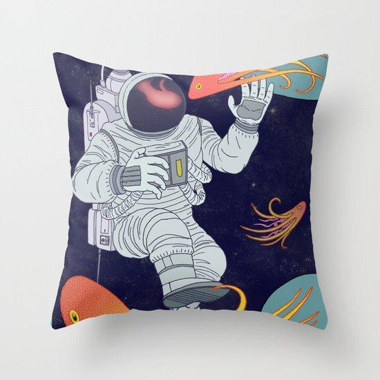 Cosmonaut Throw Pillow