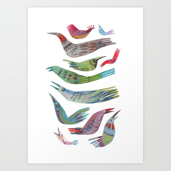 oiseaux Art Print