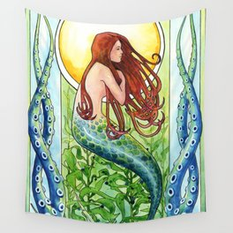 Kelp Forest Mermaid Wall Tapestry