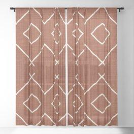 Bath in Rust Sheer Curtain