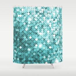 Mermaid glitter Shower Curtain