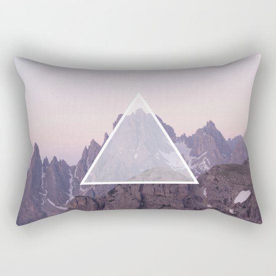 Mountain Triangle Rectangular Pillow