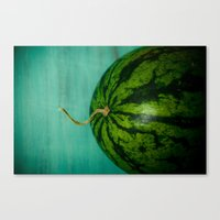 watermelon Canvas Prints featuring Watermelon by Olivia Joy StClaire