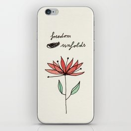 freedom unfolds iPhone Skin
