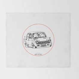 Crazy Car Art 0223 Throw Blanket