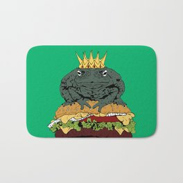 King of Burgers Green Bath Mat