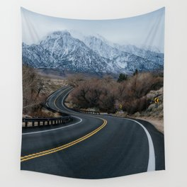Blue Mountain Road Wall Tapestry