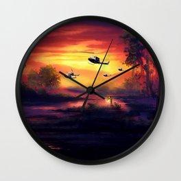 Ghosts of Vietnam Wall Clock