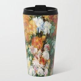 Auguste Renoir - Bouquet Of Chrysanthemums 1884 Travel Mug