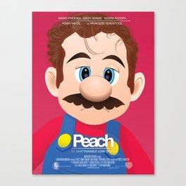 Peach - 'Her' parody movie poster Canvas Print
