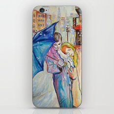 Paris, vintage, retro, love, painting. iPhone & iPod Skin