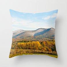 Wintery autumn Throw Pillow