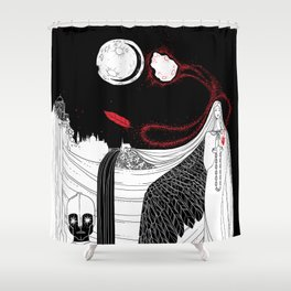 Catalyst Moon Incursion Shower Curtain