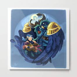 A Boomkin And His Priest Metal Print