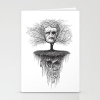 edgar allen poe Stationery Cards featuring Edgar Allan Poe, Poe Tree by Newmanart7 -- JT and Nancy Newman, Art a