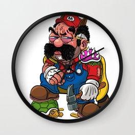 Super Over It Mario Wall Clock