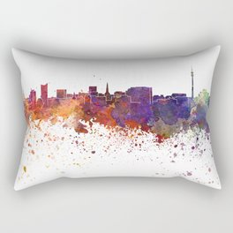 Dortmund skyline in watercolor background Rectangular Pillow