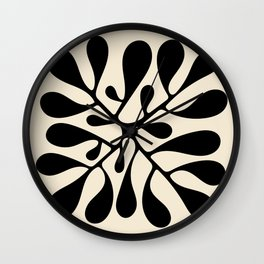 Matisse Inspired Abstract Cut Outs black Wall Clock