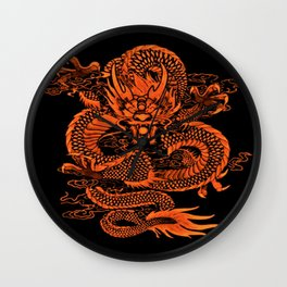 Epic Dragon Orange Wall Clock
