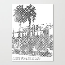 Marina Palm Trees Canvas Print