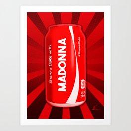 Share a Soda with Madonna | Pop Art Art Print