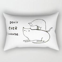 Slightly Threatening Romantic Cat Rectangular Pillow