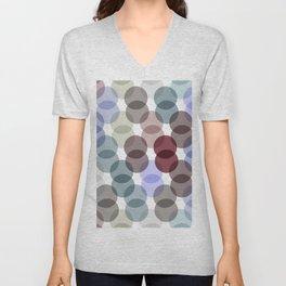 Polka dot pattern. dot on white background Unisex V-Neck