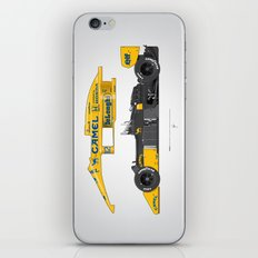 Outline Series N.º5, Ayrton Senna, Lotus 99T-Honda, 1987 iPhone & iPod Skin