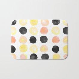 Peach + Coal Dots Bath Mat