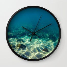 Underwater scene Wall Clock