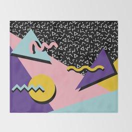 Memphis Pattern 23 - 80s Retro - Pastel Colors Throw Blanket