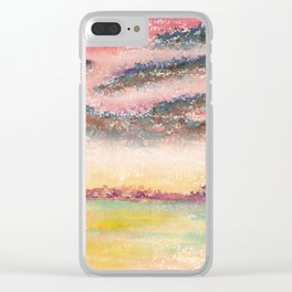 Ethereal Landscape Watercolor Illustration Clear iPhone Case