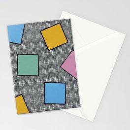 Memphis Squares Stationery Cards