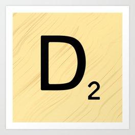 Scrabble D Decor, Scrabble Art, Large Scrabble Prints, Word Art, Accessories, Apparel, Home Decor Art Print