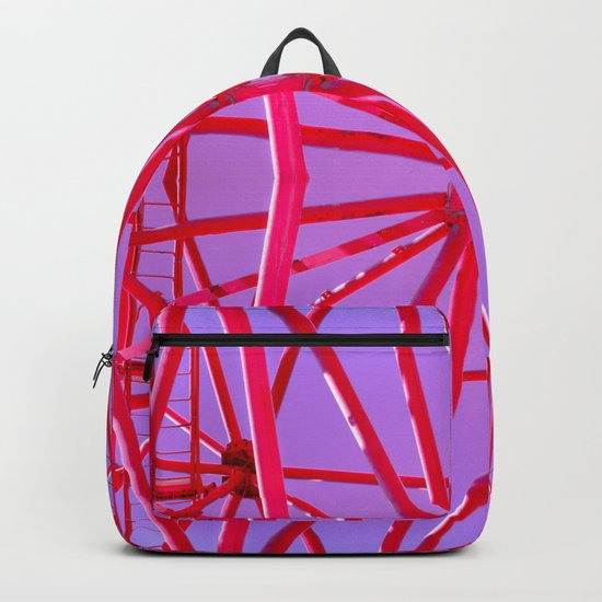 Red Iron Tubes Backpack