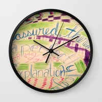gravity falls Wall Clocks featuring Gravity Falls Quote by writingoverashes