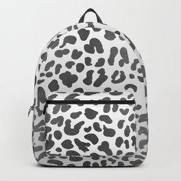 Grey Leopard Print Backpack