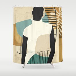 Tropical Girl /Abstract Art Shower Curtain