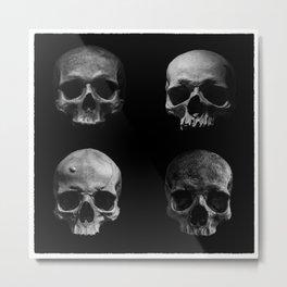 Skulls quartet BW Metal Print