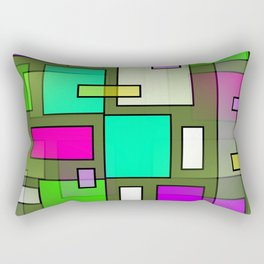 Color Structure Rectangular Pillow